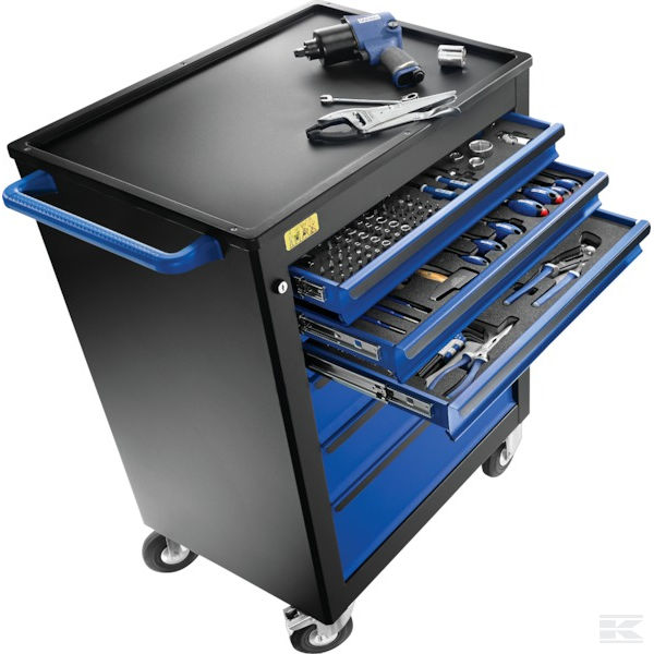 EXPERT E220360 - 7Drawer Roller Cabinet with 208Piece Tool Set Load Capacity: 600Kg NEW