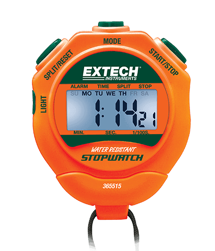 EXTECH 365515 - Stopwatch/Clock with Backlit Display