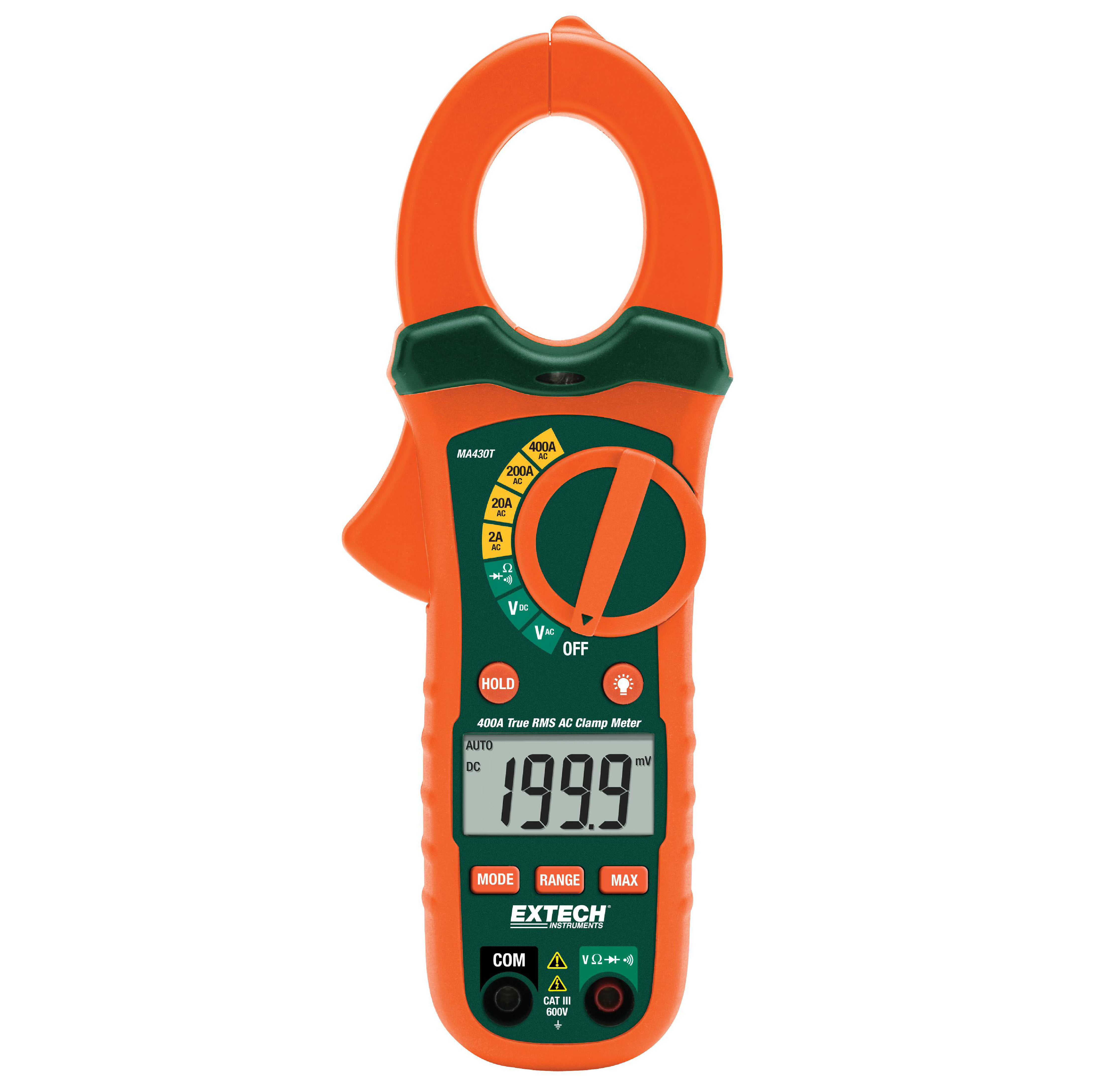 EXTECH MA430T - 400A True RMS AC Clamp Meter + NCV