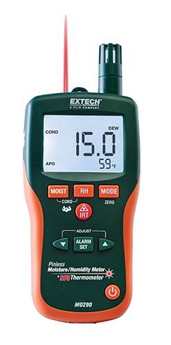 EXTECH MO290 - Pinless Moisture Psychrometer + IR