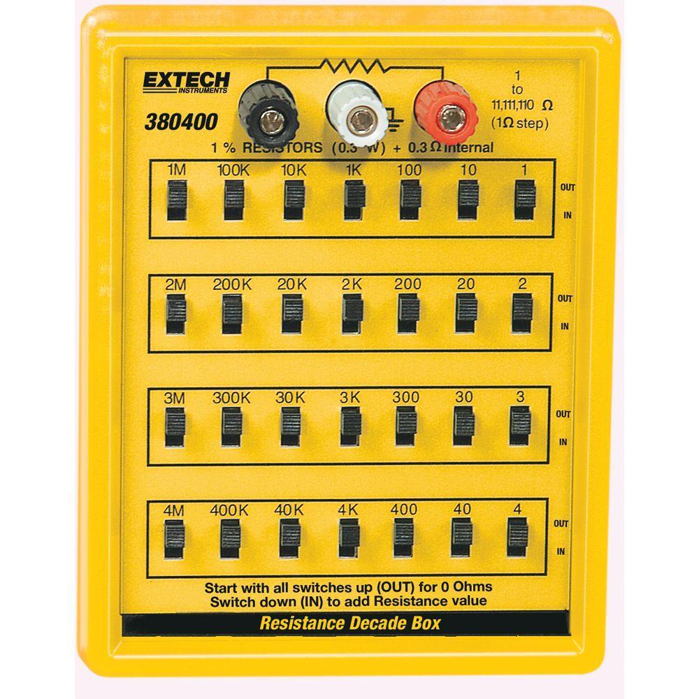 EXTECH 380400 - Resistance Decade Box