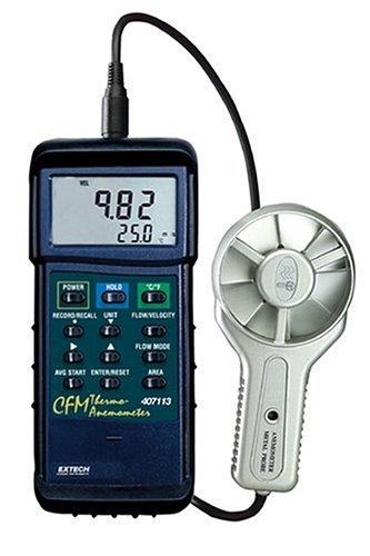 EXTECH 407113 - Heavy Duty CFM Metal Vane Anemometer