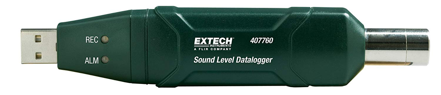 EXTECH 407760 - USB Sound Level DataloggerCompact, High Accuracy Sound Level Datalogger with Tripod / 30 to 130dB range