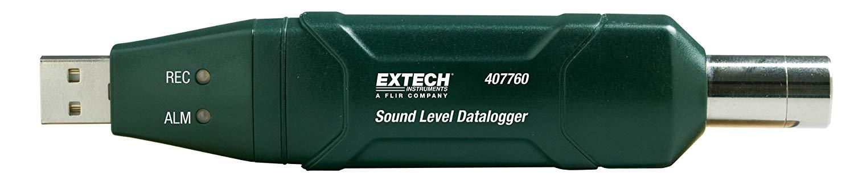 EXTECH 407760 - USB Sound Level DataloggerCompact, High Accuracy Sound Level Datalogger with Tripod / 30 to 130dB range