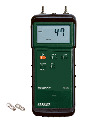EXTECH 407910 - Heavy Duty Manometer 29PSI