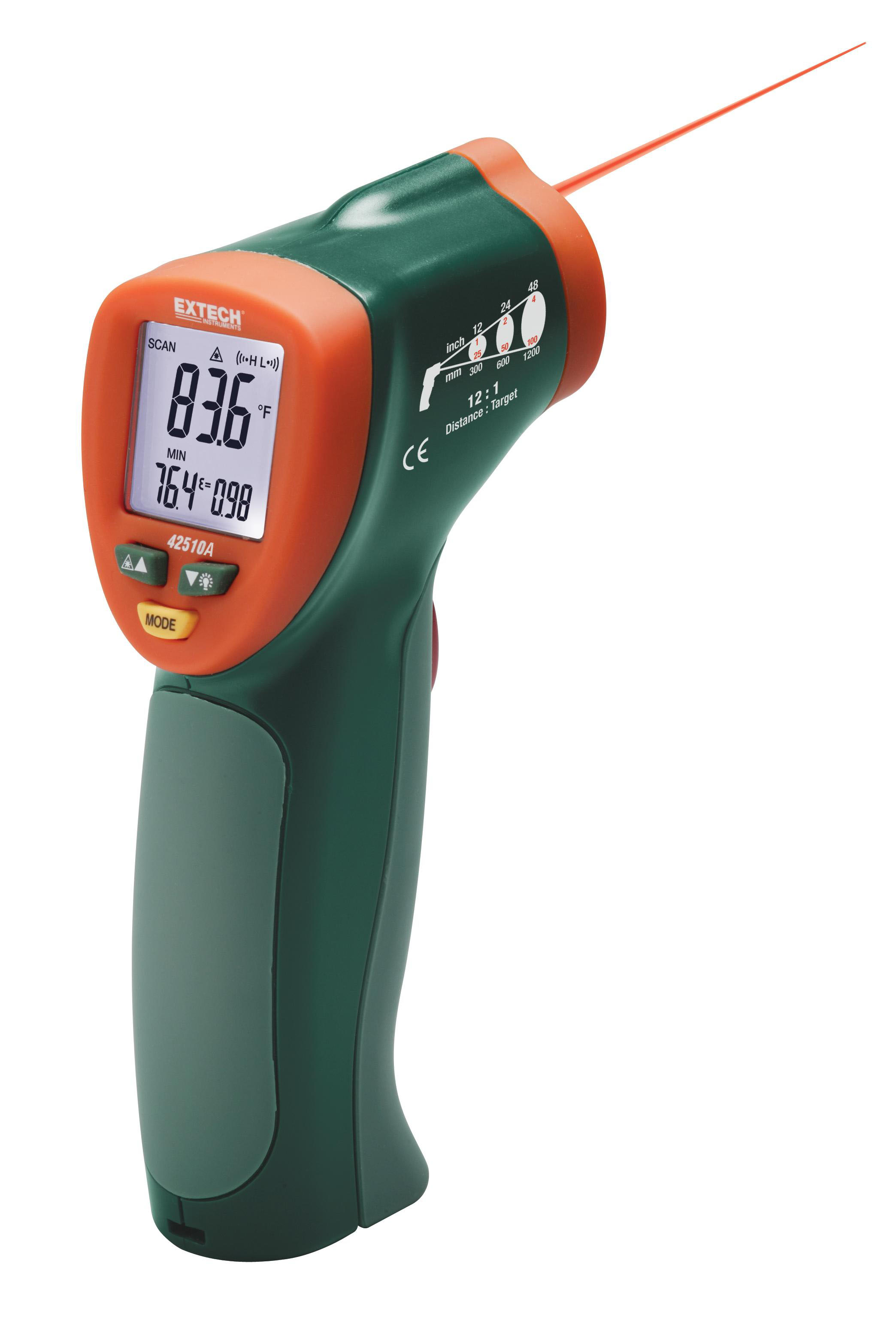 EXTECH 42510A - Wide Range Mini IR Thermometer -50°C to 650°C