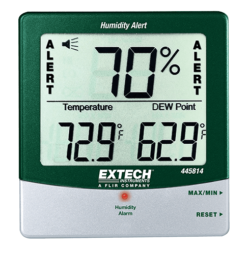 Hygro-Thermometer Humidity Alert w/Dew Point