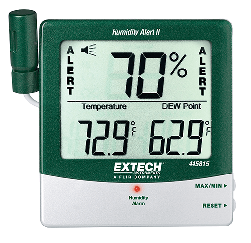 EXTECH 445815 - Hygro-Thermometer Humidity Alert with Dew Point