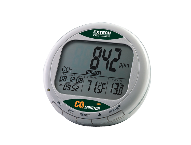 EXTECH CO200 - Desktop Indoor Air Quality CO2 Monitor