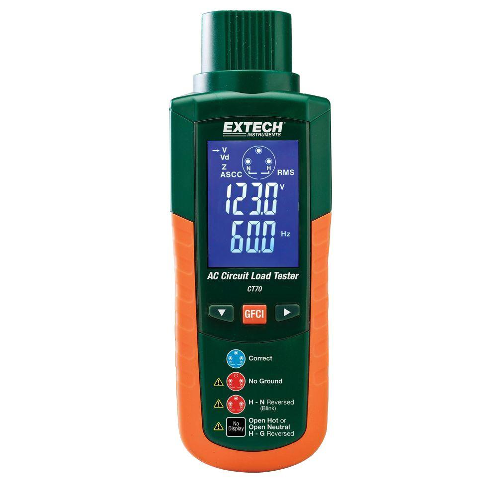 EXTECH CT70 - GFCI and AC Circuit Analyzer
