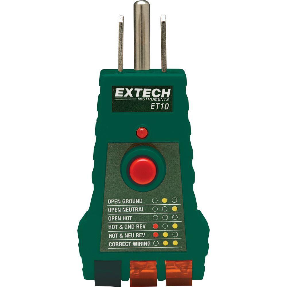 EXTECH ET10 - GFCI Receptacle Tester