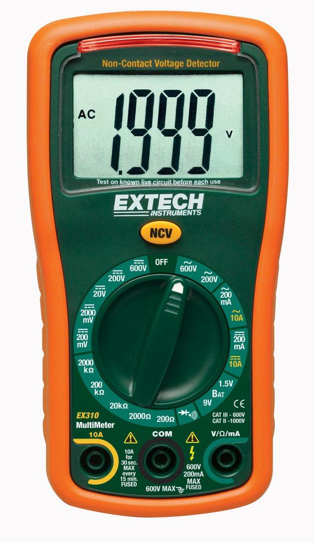 EXTECH EX310 - 9 Function Mini MultiMeter + Non-Contact Voltage Detector
