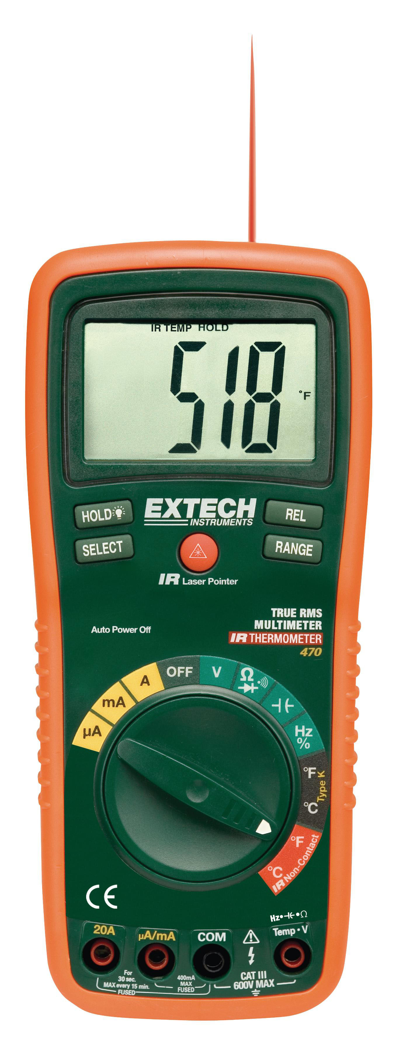 EXTECH EX470 - True RMS Professional MultiMeter + InfraRed Thermometer