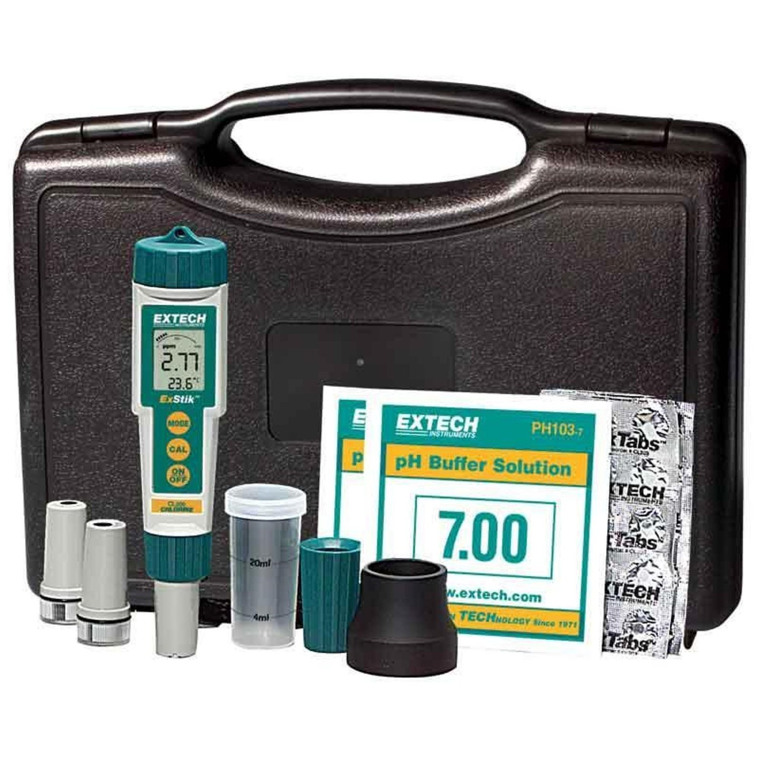 EXTECH EX900 - 4-in-1 Chlorine, pH, ORP and Temperature Kit