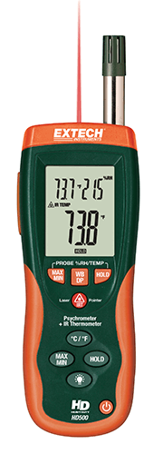EXTECH HD500 - Psychrometer with InfraRed Thermometer