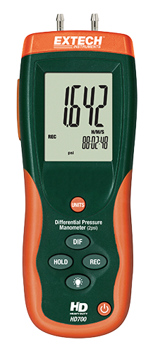 EXTECH HD700 - Differential Pressure Manometer (2psi) 55.40inH?O
