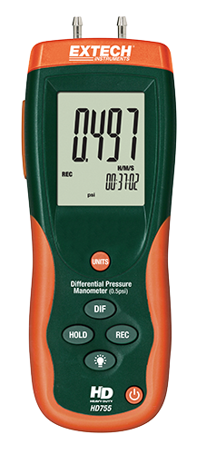 EXTECH HD755 - Differential Pressure Manometer (0.5psi)13.85inH?O