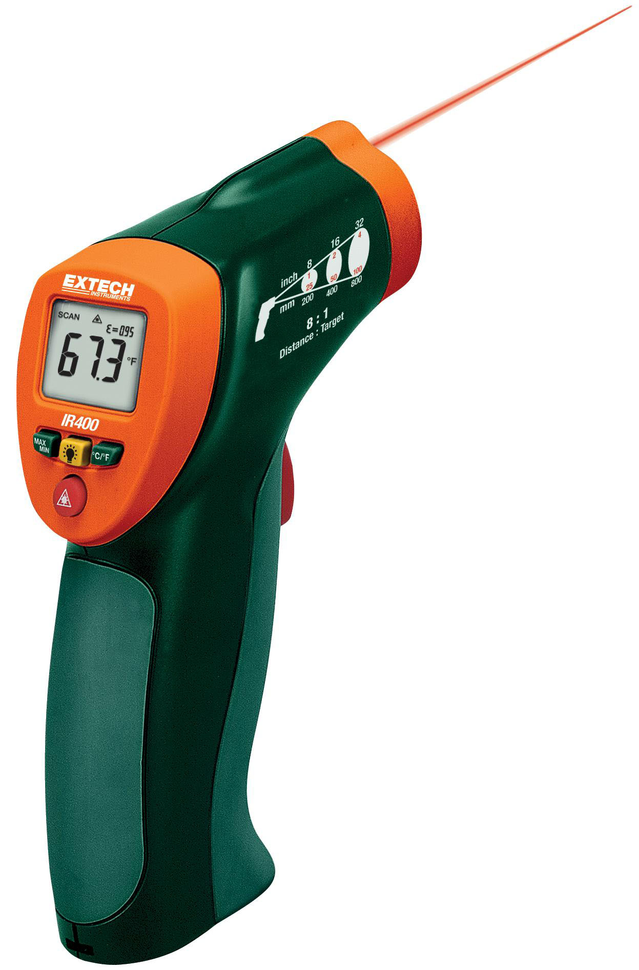 EXTECH IR400 - Compact Laser IR Thermometer  -20°C to 332°C