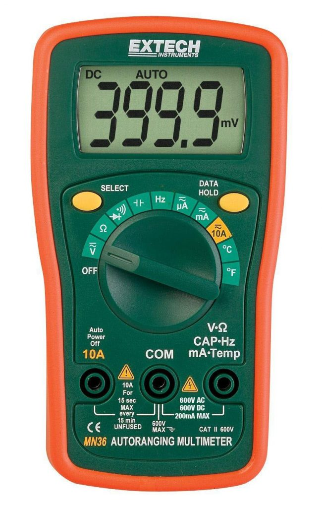 EXTECH MN36 - Digital Mini MultiMeter