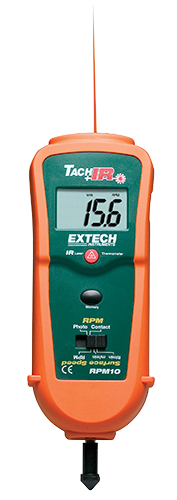 EXTECH RPM10 - Photo/Contact Tachometer with built-in InfraRed Thermometer
