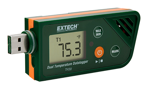EXTECH TH30 - USB Dual Temperature Datalogger