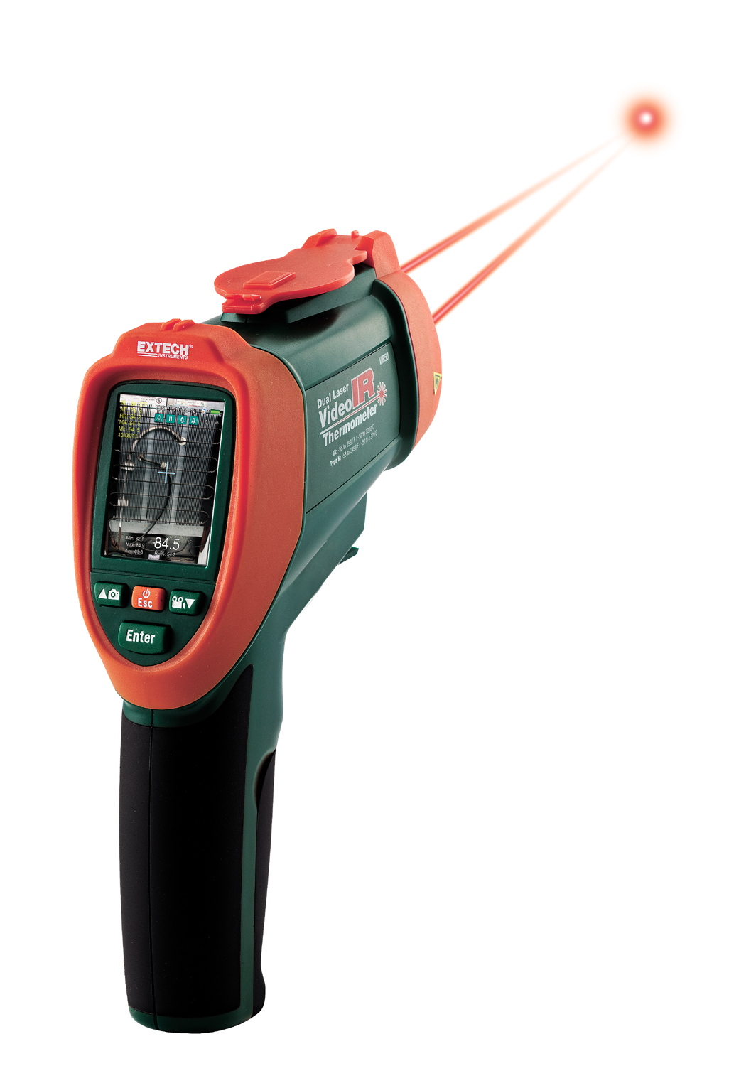 EXTECH VIR50 - Dual Laser IR Video Thermometer
