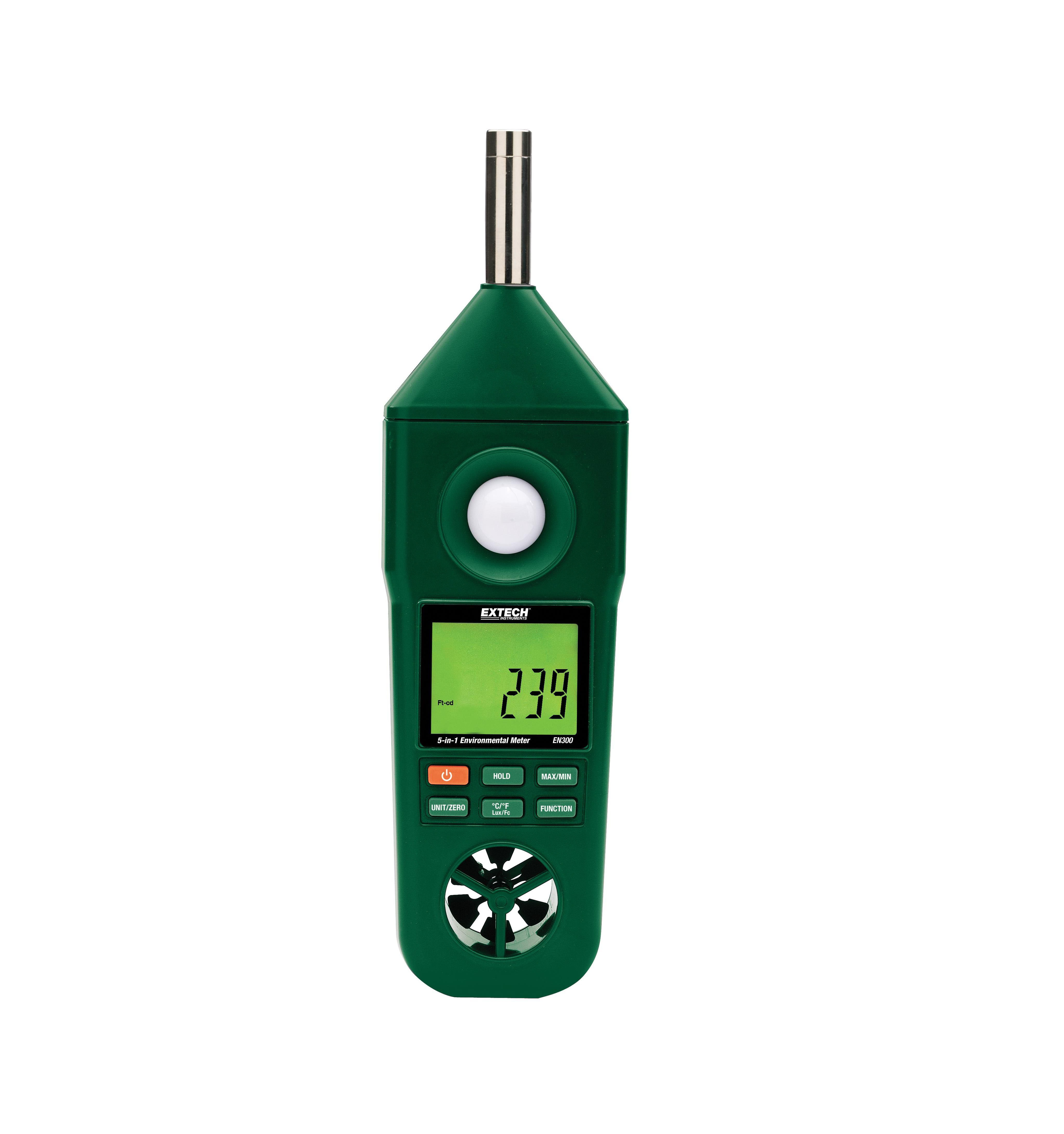 EXTECH EN300 - Hygro-Thermo-Anemometer-Light-Sound Meter