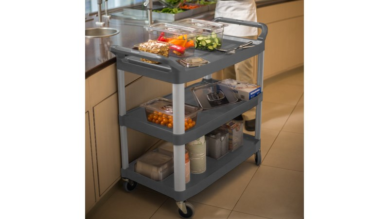 RUBBERMAID_FG409100GRY_Cart Open GRY