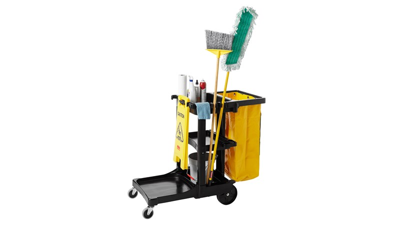 RUBBERMAID_FG617388BLA_Janitor Cleaning Cart - Janitor/Cleaning Cart- Black