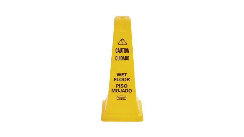 RUBBERMAID_FG627777YEL_Safety Cone - Safety Cone Multilingual Caution & Wet Floor