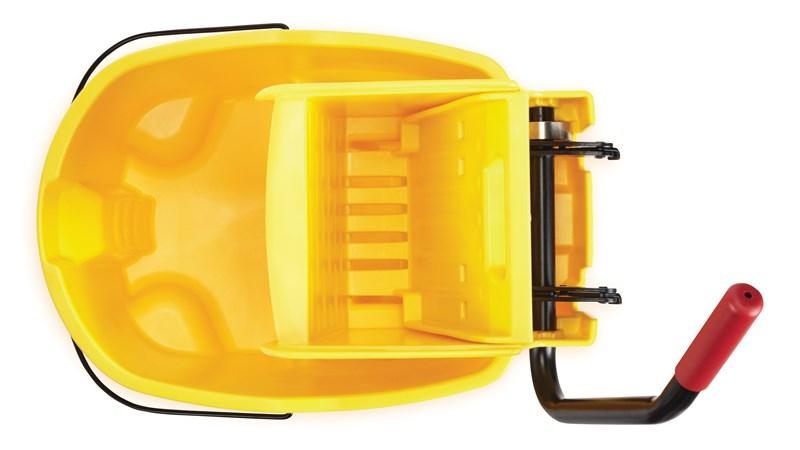 RUBBERMAID_FG758088YEL_Wave Brake Side Press Bucket - Wavebrake Side Single Mop Bucket/Wringer
