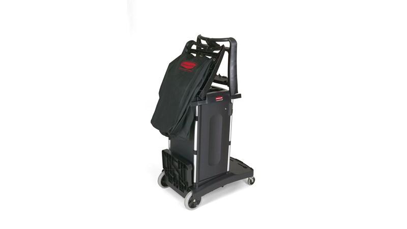 RUBBERMAID_FG9T7600BLA_Housekeeping Cart - Compact Fold-Away Housekeeping
