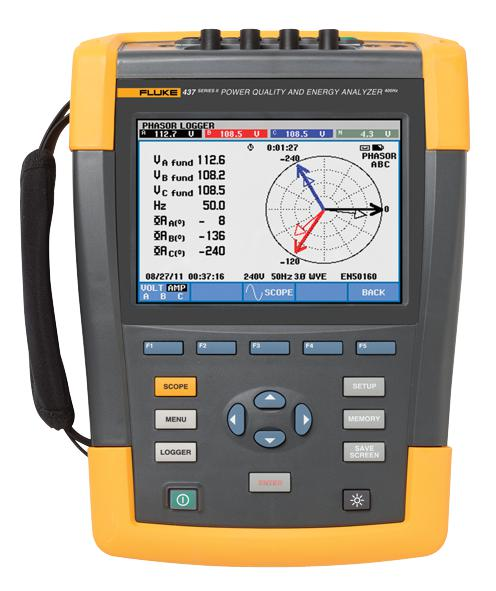 FLUKE 437-II-INTL - 400 Hz Power Quality and Energy Analyzer