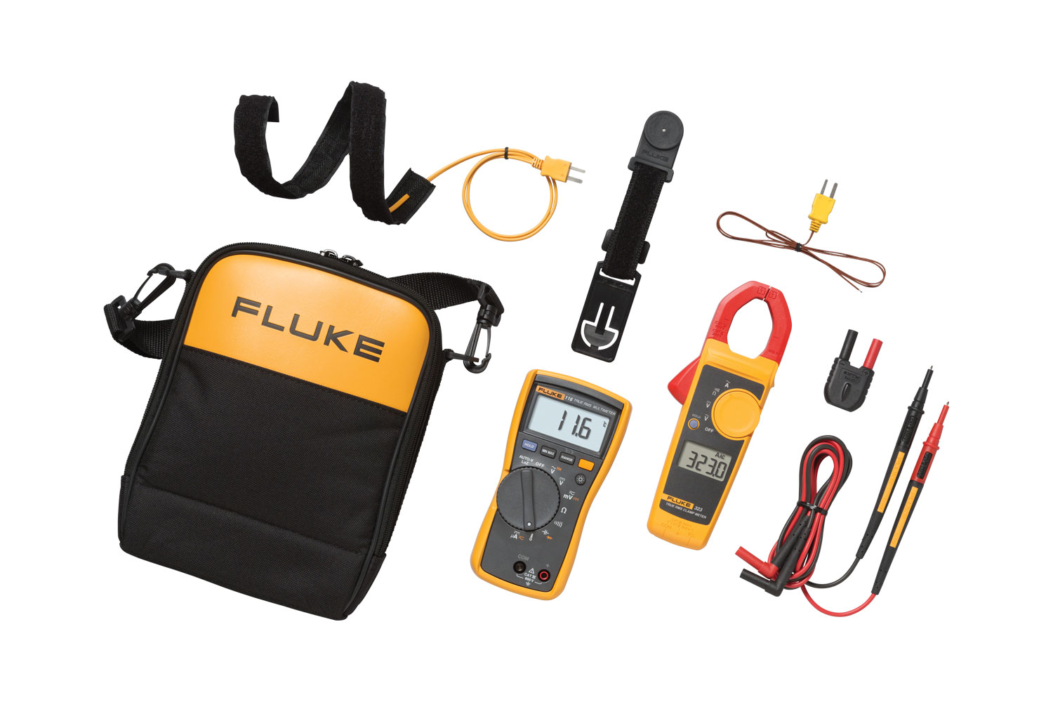 FLUKE 116-323 Kit - HVAC True RMS Multimeter and Clamp Meter Combo Kit
