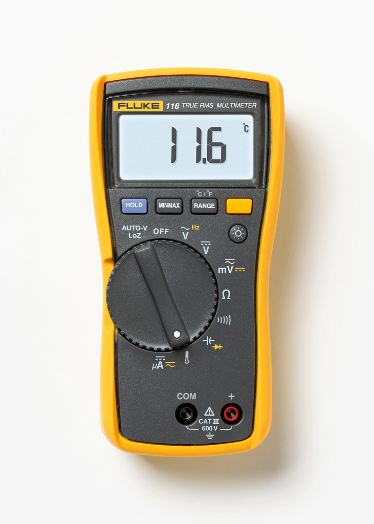 FLUKE 116 - Digital HVAC Multimeter 600V AC/DC