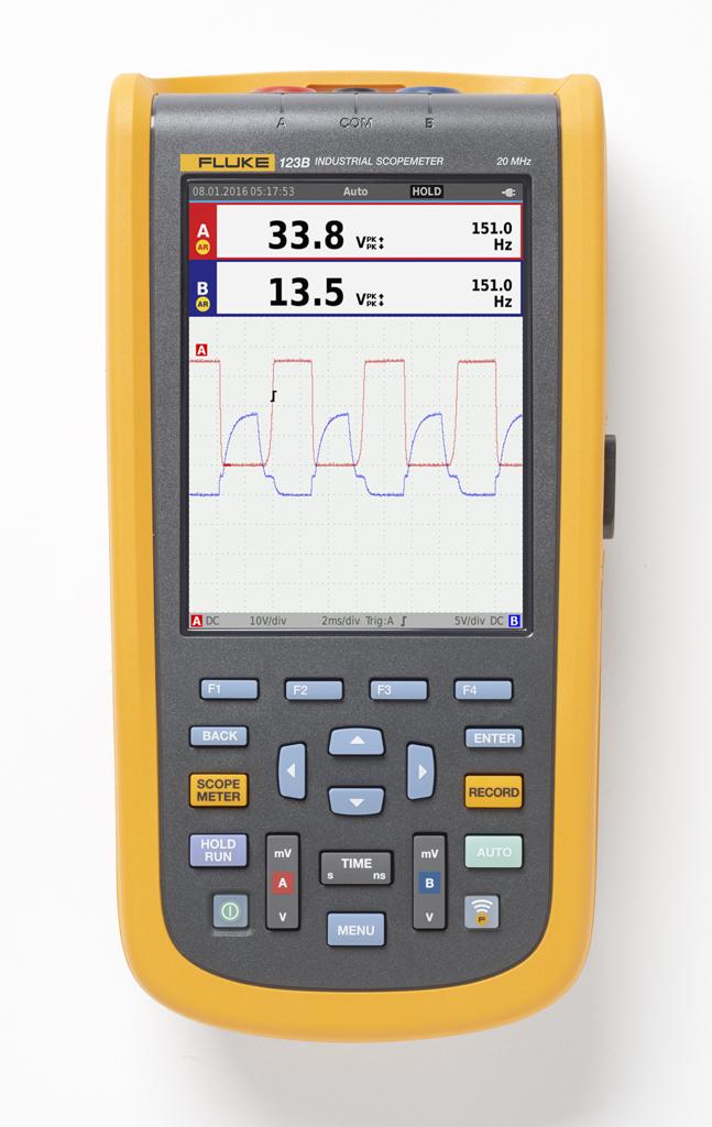 FLUKE 123B-EU-S - Industrial ScopeMeter (20 MHz) + SCC120