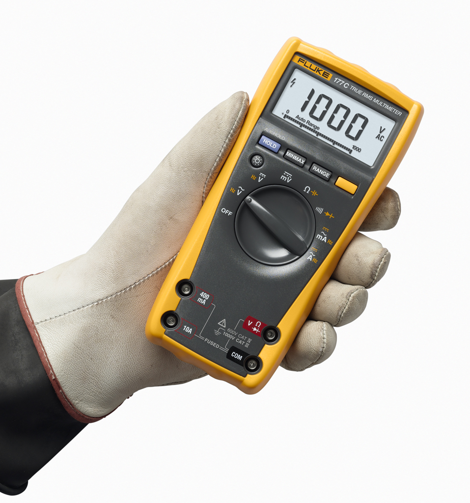 FLUKE 177 - True RMS Digital Multimeter, 1000V AC/DC Voltage