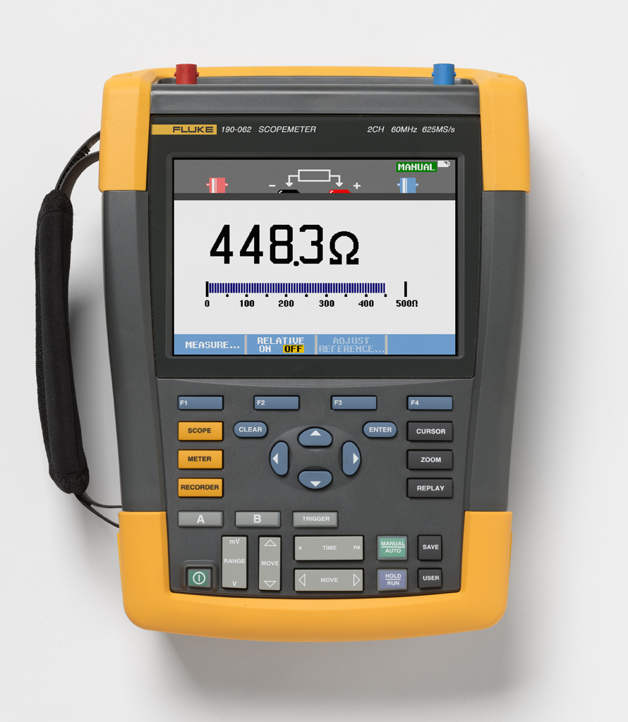 FLUKE 190-062-S - ScopeMeter 2 Channel 60MHZ Color SCC