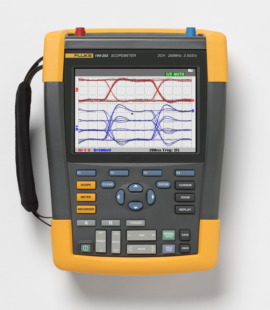FLUKE 190-202 - ScopeMeter 2 Channel 200MHZ Color