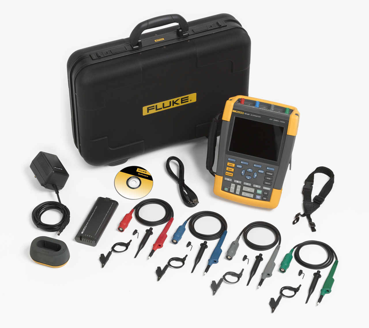FLUKE 190-204 - ScopeMeter 4 Channel 200 MHZ Color