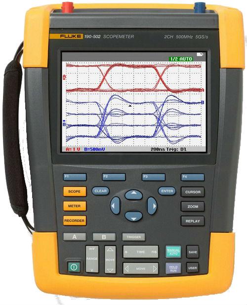 FLUKE 190-502-S - ScopeMeter 2 Channel 500 MHZ Color UNI SCC