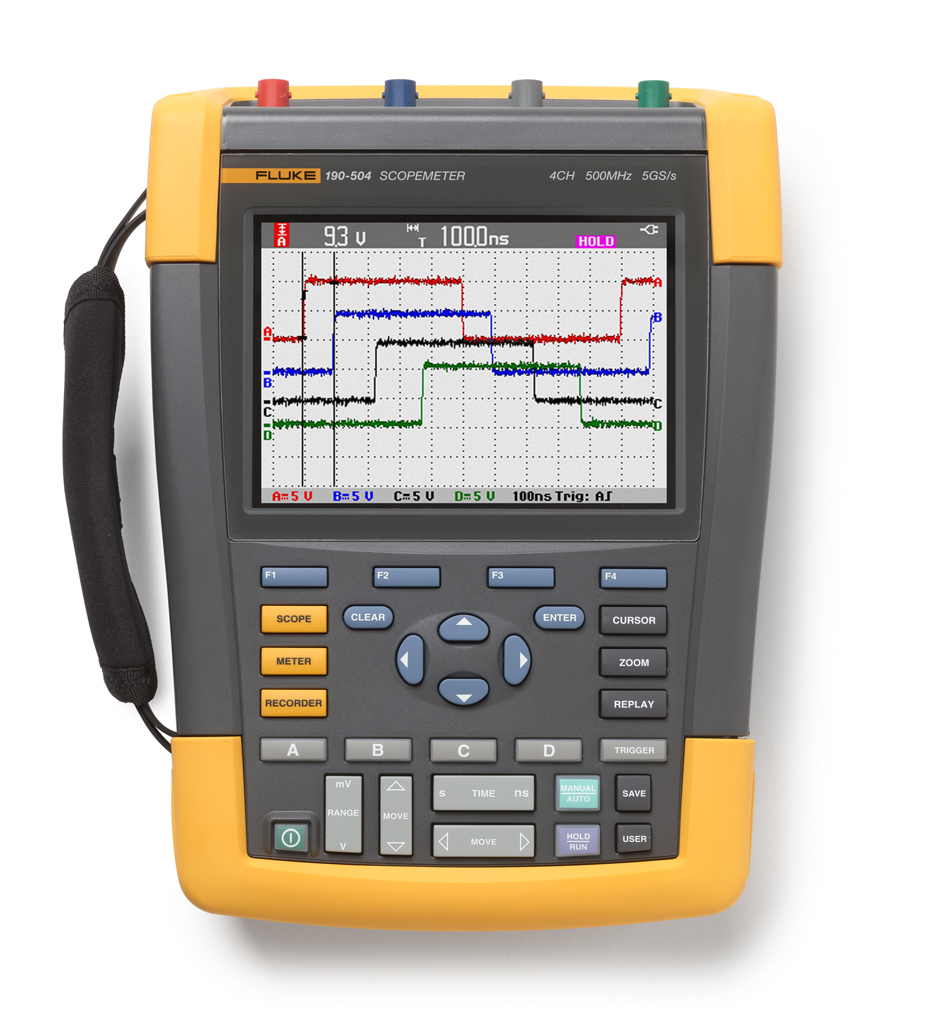 FLUKE 190-504 - ScopeMeter 4 Channel 500MHz Color UNI