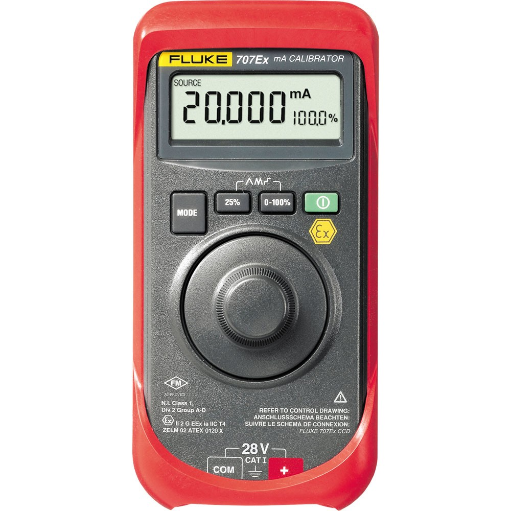 FLUKE 707 - Loop Calibrator with Quick Click Knob; 28V Voltage; 24mA Current