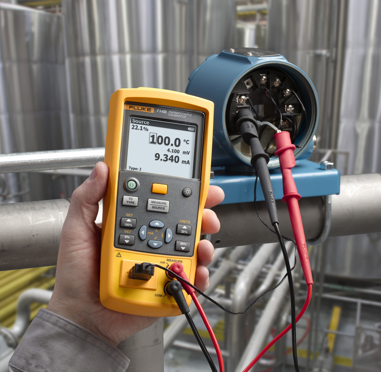 FLUKE 714B - LCD Thermocouple Calibrator