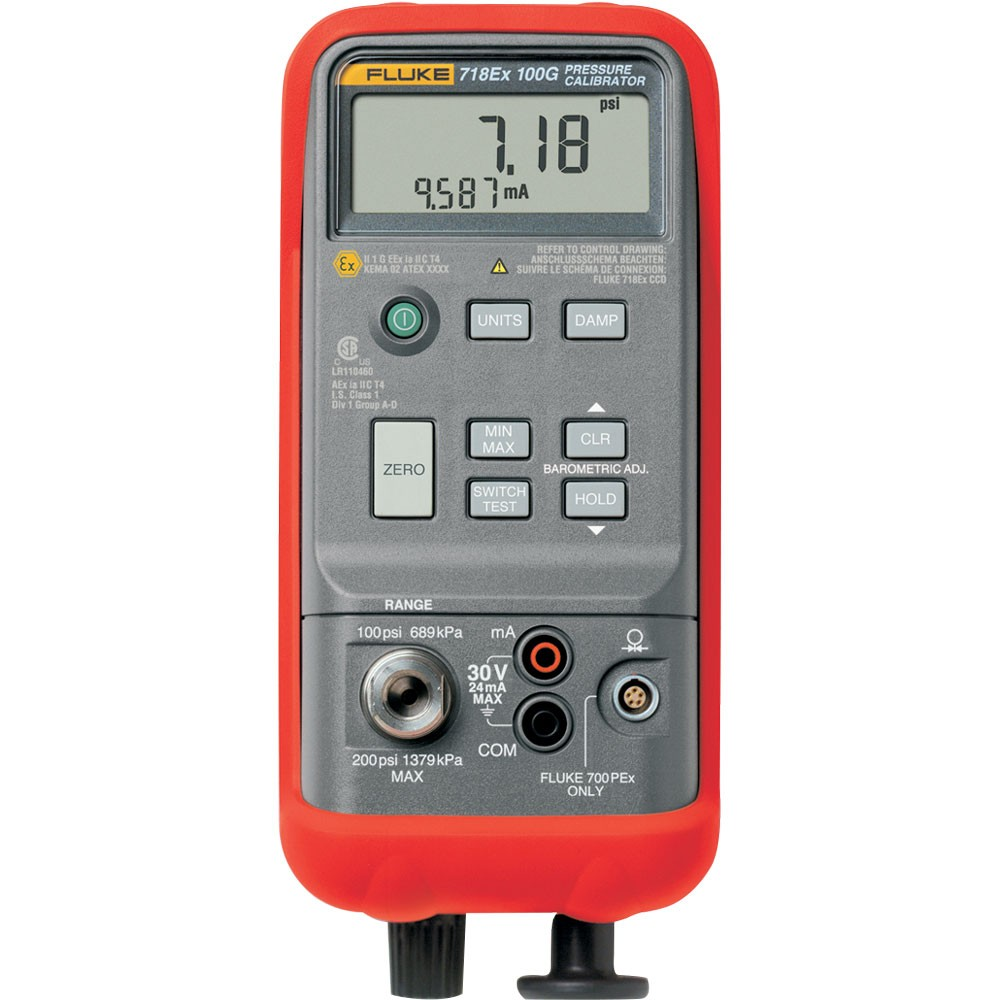 FLUKE 718Ex 30G - Intrinsically Safe Pressure Calibrator (2 bar),-12 to 30 PSI