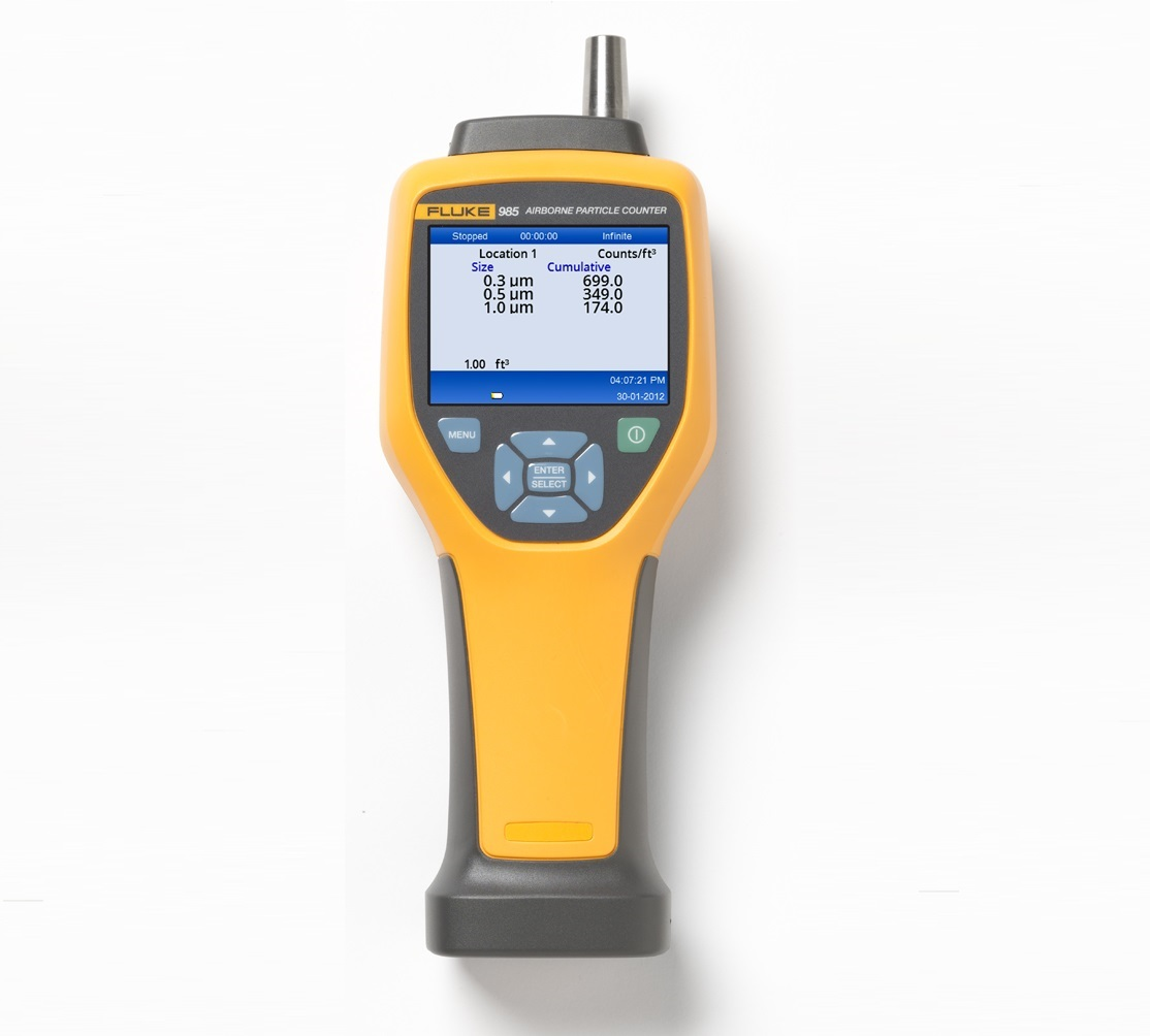 FLUKE 985 - 6 Channel Indoor Air Quality Particle Counter; 0.1 cfm Flow Rate