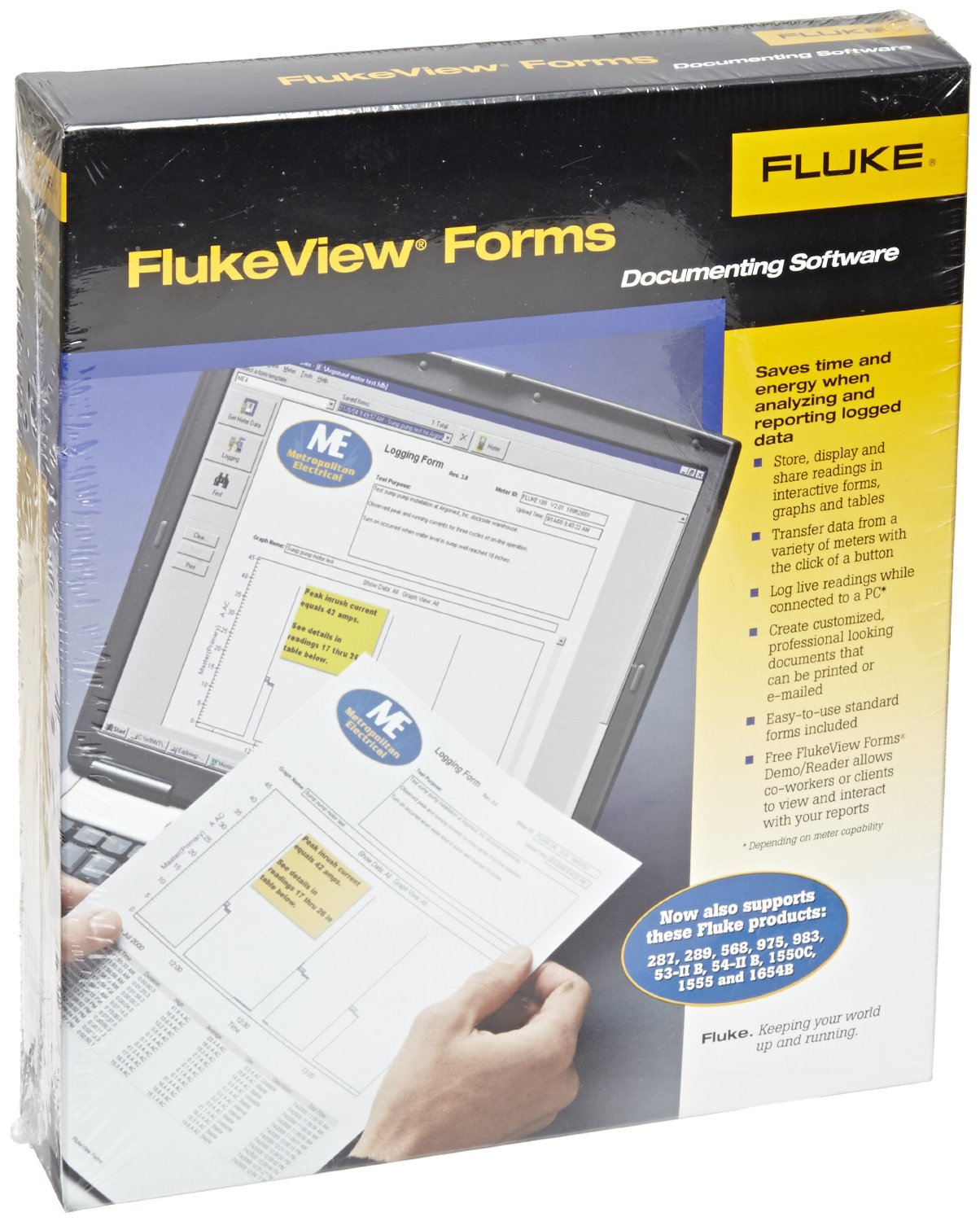FLUKE FVF-Basic - FlukeView Forms Basic+IR Cable (189;287;289;789;1550B)