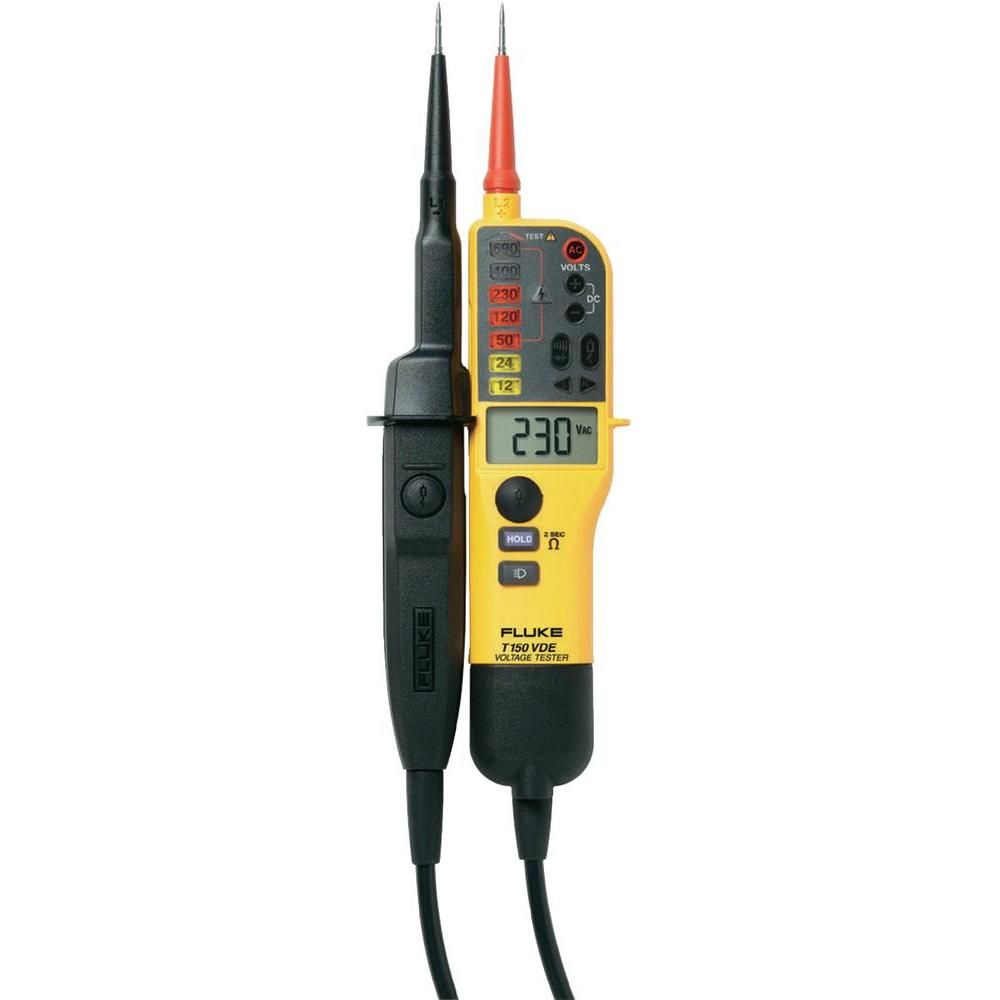 FLUKE T150 - Voltage/continuity tester with LCD; Ohms; switchable load