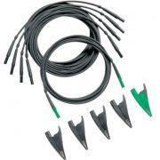 FLUKE TLS430 - Test Leads and Alligator Clips (4 black; 1 green) – 430 S