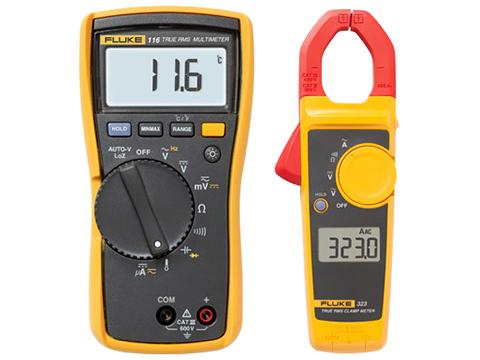 FLUKE 116-323 Kit - HVAC True RMS Multimeter and Clamp Meter Combo Kit